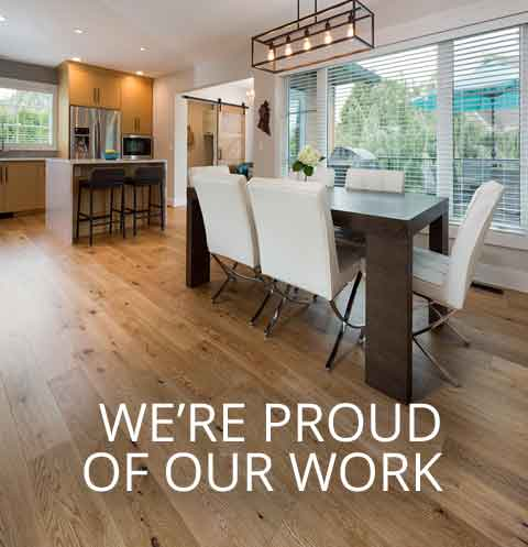 We're Proud of Our Work